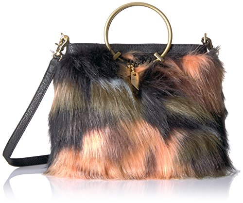 Foley + Corinna Faux Fur Ring Crossbody Foldover Tote by Foley + Corinna