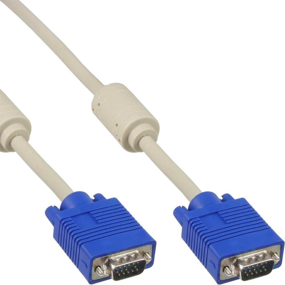 InLine 17710B S-VGA Kabel 15-polig HD Stecker auf Stecker 3m schwarz