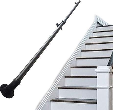 Pasamanos de Escalera Apoyabrazos de tubería Pasamanos de riel para escaleras Pasamanos de Hierro Forjado de Metal Negro para Interiores para niños Mayores discapacitados Escaleras Exteriores Pasos: Amazon.es: Hogar