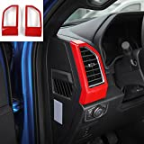 f150 air vent - Voodonala Red Air Condition Outlet Vent Covers Trim Dashboard Side for Ford F150 2015 2016 2017