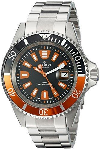 CROTON Men's CA301282BKOR Analog Display Quartz Silver Watch by Croton -  CROTON Watches MFG Code, 431402