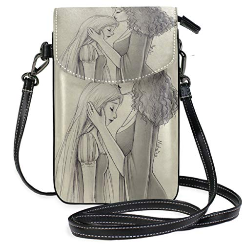 Unique Anime Mother's Day Wallpaper Small Crossbody Bag Cell Phone Wallet Womens Mini Leather Shoulder Bags
