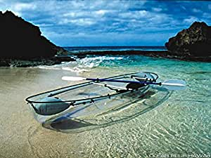 Molokini Clear Bottom Kayak with Seats and Paddles