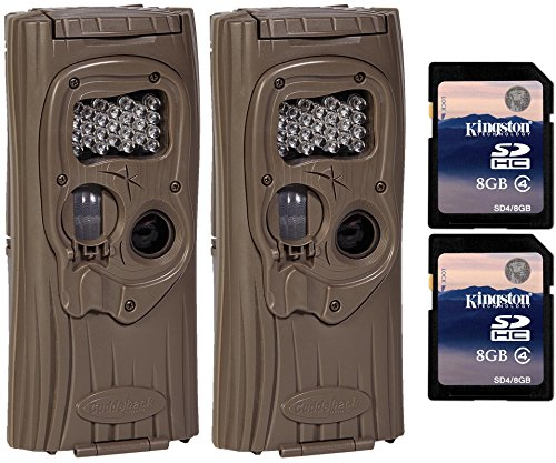 Cuddeback Digital Camera - (2) CUDDEBACK F2 IR Plus 1309 Infrared Trail Game Hunting Cameras + SD Cards
