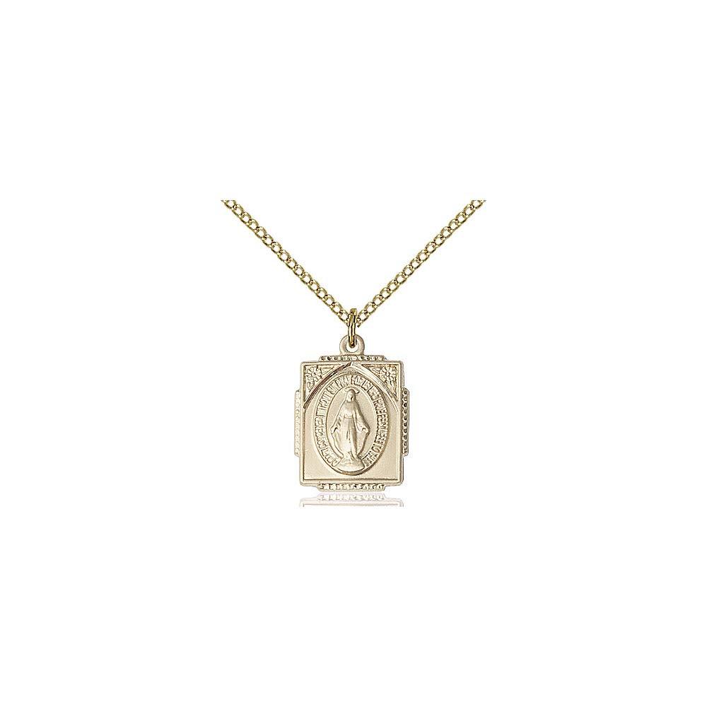 DiamondJewelryNY 14kt Gold Filled Miraculous Pendant