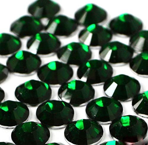 2mm, 3mm,4mm,5mm,6mm DIY Resin Round Flat Back Rhinestones Gems Brilliant 14-Cut Facets Flatback Includes Rhinestones Flat Back Samples from GreatDeal68 (6mm (450 pcs), Emerald)