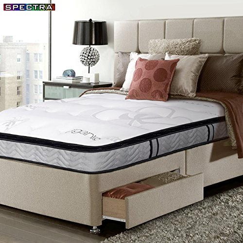 Spectra 14-inch Double-Sided Pillow-Top Pocket Coil Plush Orthopedic Mattress 14 Inch Pillow Top Mattress