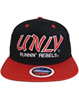 UNLV Runnin Rebels Retro Script 2 Tone Snapback Cap Hat Black Red