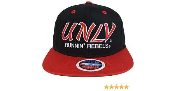 5b81afde485 UNLV Runnin Rebels Retro Script 2 Tone Snapback Cap Hat Black Red at Amazon  Men s Clothing store  Sports Fan Baseball Caps