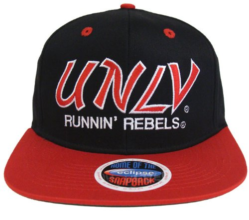 b601143f596 Image Unavailable. Image not available for. Color  UNLV Runnin Rebels Retro  Script 2 Tone Snapback Cap Hat Black Red
