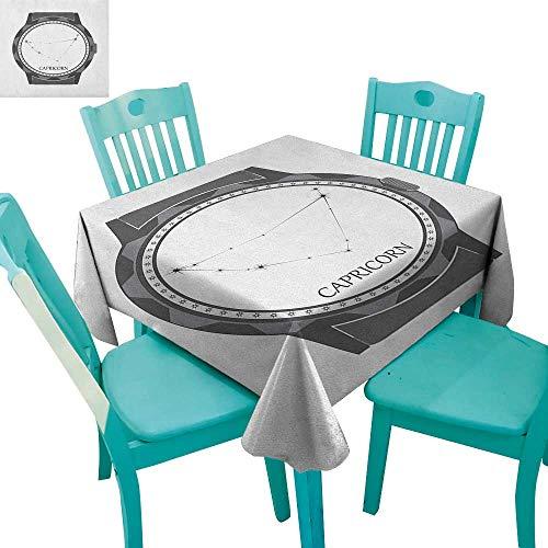 longbuyer Zodiac Capricorn,Dinning Tabletop Decor,Greyscale Watch Dial Design with Horoscope Constellation Motif,36