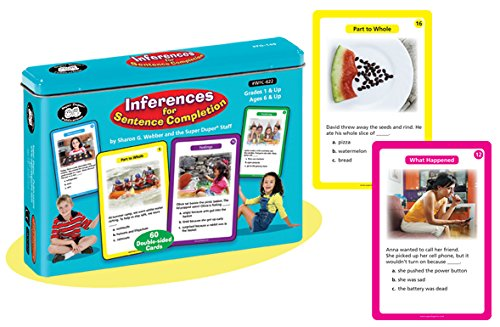 Super Duper Publications Inferences for Sentence Completion Fun Deck Early Reader Flash Cards Educational Learning Resource for Children by Super Duper Publications