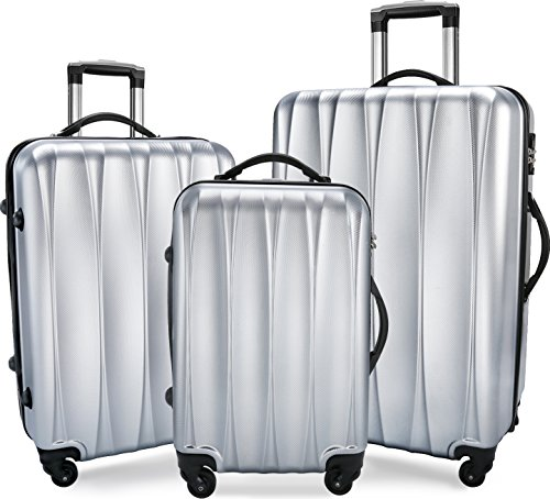BIXIDRAGON Luggage Set 3 Pcs PC+ABS Light Weight Suitcace With TSA Lock by BIXIDRAGON