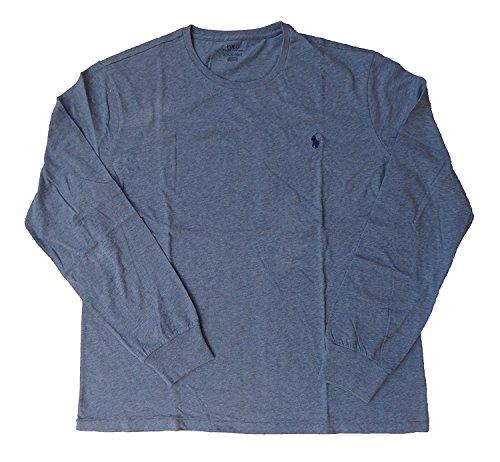 Polo Ralph Lauren Mens Long Sleeve Crewneck Logo T-Shirt - M - Blue - Ralph Sale On Lauren Polo