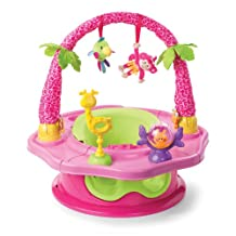 Summer Infant 3-Stage SuperSeat Deluxe Giggles Island: Positioner, Activity Seat, and Booster, Girl
