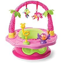 Summer Infant 3-Stage SuperSeat Deluxe Giggles Island Positioner, Booster and Activity Seat for Girl