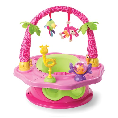 - Summer Infant 3-Stage SuperSeat Deluxe Giggles Island Positioner, Booster and Activity Seat for Girl