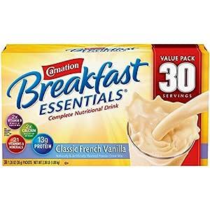 Carnation Breakfast Essentials Carnation Instant Classic French Vanilla Complete Nutritional Drink 30 X 1.26 F l Oz Net wt (37.8 Fl Oz), 37.8 Fl Oz