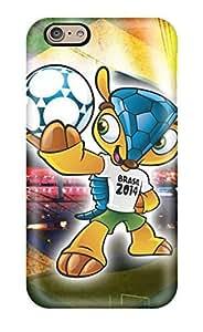 ZippyDoritEduard Perfect Tpu Case For Iphone 6/ Anti-scratch Protector Case (armadillo World Cup 2014 Brazil Mascot Iphone 5)(3D PC Soft Case)