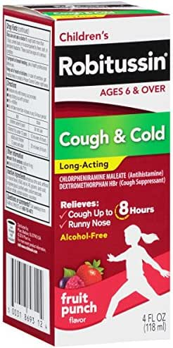 Cough & Sore Throat: Children's Robitussin Cough & Cold