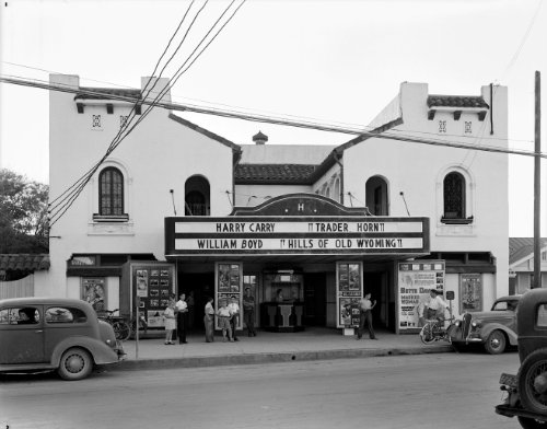 1937 Harlandale Movie Theater San Antonio Texas Marquee Historical Photograph- Reprint 8x10