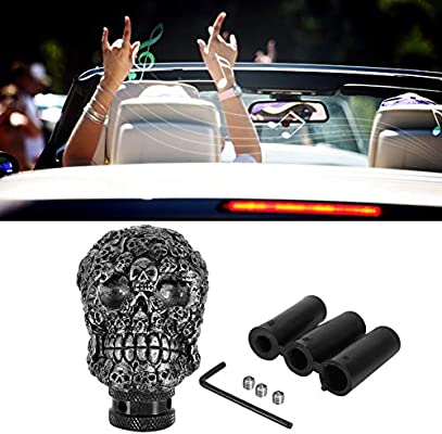 Gear Shift Knob Fydun Skeleton Skull Head Car Modified Gear Shift Knob Stick Lever Shifter Universal Shift Knob Cover Handbrake Grip Interior Decor Green