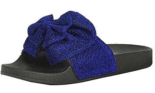 26946037ec64 Refresh Footwear Women s Glitter Bow Slip on Slide Sandal B072K1BWHB  B072K1BWHB B072K1BWHB Shoes 5e617a