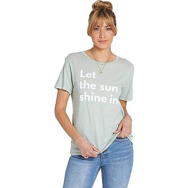 37592535 Billabong Women's Let The Sun Shine In T-Shirt Blue Light Small