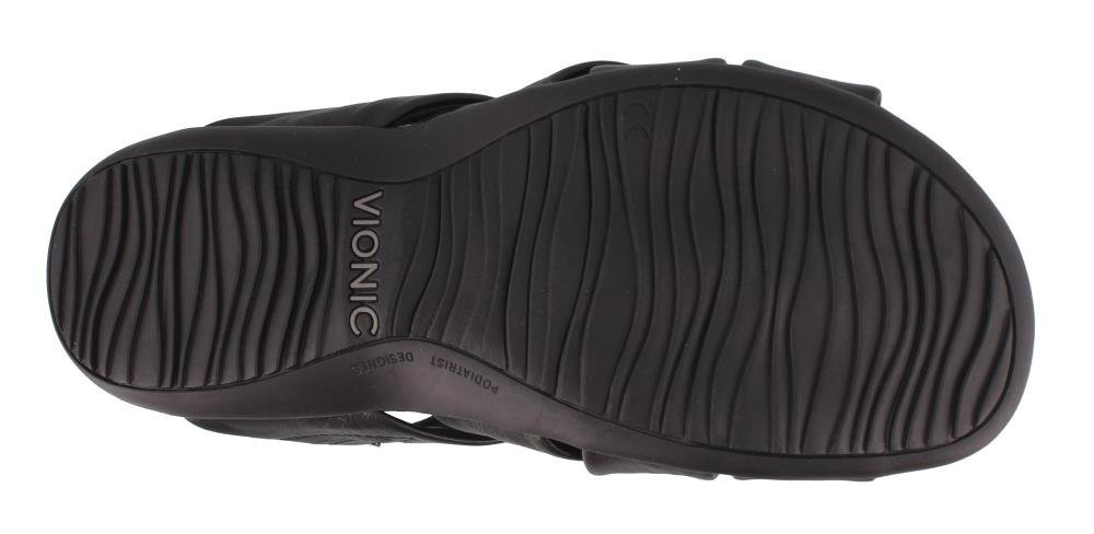 Vionic Women's Juno Slide Sandal B07D3HKTZ1 11 C/D US|Black