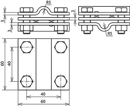 10//Leuchtstofflampe 30 mm St//tZn DEHN 319201 cruceta Union Teller rd//8