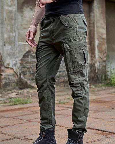 Lavoro Chino Taglie Fabric Armee Pantaloni Lunghi Cargo Hx Stretch Regular Fashion Tasche Da Fit Uomo Abiti grün Comode 0wBxxPqXF