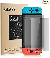Athelain Nintendo Switch Protector de Pantalla - 2 Unidades Cristal Vidrio Templado 9H Dureza Screen Protector Film para...