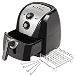 Secura Hot 'n Crispy Electric Hot Air Fryer 5.3 Qt with Rack, Skewers, & Recipes SAF-53