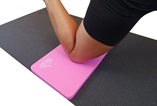 "SukhaMat Yoga Knee Pad - NEW! 15mm (5/8"") Thick - The best yoga knee pad for a pain free Fitness Exercise Workout. Cushions pressure points. Complements your full-size yoga mat. (Pink)"