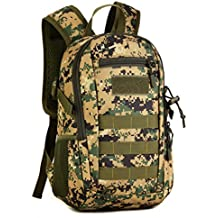 Protector Plus 12L Mini Daypack Military MOLLE Tactical Backpack Rucksack Gear Assault Pack Student School Bag for Fishing Hunting Camping Trekking