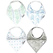 "Baby Bandana Drool Bibs for Drooling and Teething 4 Pack Gift Set For Boys ""Jude Set"" by Copper Pearl"