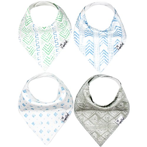 Baby Bandana Drool Bibs for Drooling and Teething 4 Pack Gift Set For Boys Jude Set by Copper Pearl