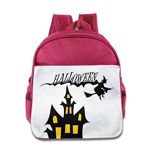 XJBD Custom Cool Halloween Teenager School Bagpack For 1-6 Years Old Pink