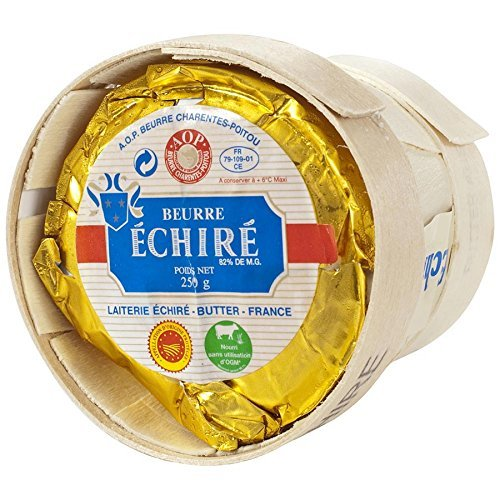 French Echire Butter, Unsalted - pack of 2 - 8.8 oz each