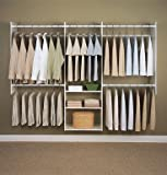Easy Track RB1460 4-to-8-Foot Deluxe Tower Closet, White