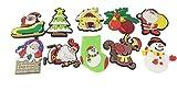 snowman refrigerator magnet - 10pcs Cute Funny Santa Claus Christmas Theme Soft Rubber Refrigerator Toy Fridge Stickers Gift Kids Room Decoration