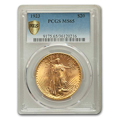 - 1923 $20 St. Gaudens Gold Double Eagle MS-65 PCGS G$20 MS-65 PCGS