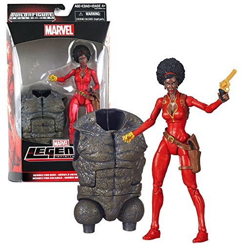 Marvel Hasbro Year 2015 Legends Infinite Rhino Series 6-1/2 Inch Tall Action Figure - Heroes for Hire Misty Knight with Revolver Gun and Rhino's Abdomen