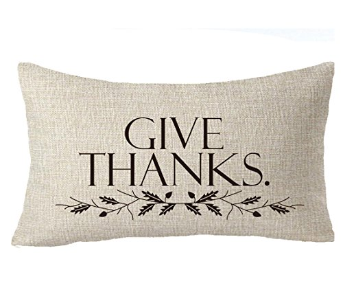Thanksgiving Ball (Thanksgiving family friends gifts give thanks Fruits Leaves wreath Throw Pillow Cover Cushion Case Cotton Linen Material Decorative 12''x20'')