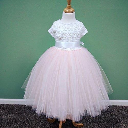0ed64e8cb0e2 Amazon.com: Handmade Princess Floor-length Blush Flower Girl Dress - Size  Newborn, 0-3M, 3-6M, 6-9M, 9-12M, 12-18M, 18-24M: Handmade