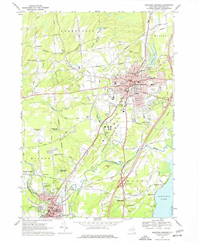 Saratoga Springs NY topo map, 1:24000 scale, 7.5 X 7.5 Minute, Historical, 1967, updated 1977, 26.9 x 22 IN - - Plaza Granite