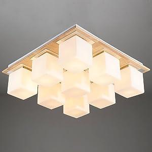 Nordic Minimalist Wood Ceiling lamp/Living Room Dining Room Wood lamp/Creative Wood Lamps-B