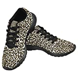 InterestPrint Women's Jogging Running Sneaker Lightweight Go Easy Walking Casual Comfort Sports Running Shoes Size 8 Leopard Print