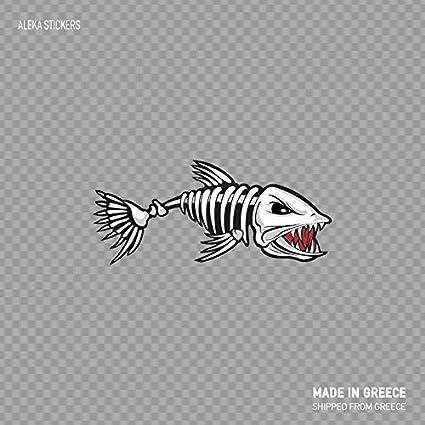 "Fish skeleton Fish bones styling sticker decal 5/"" x 3/"""
