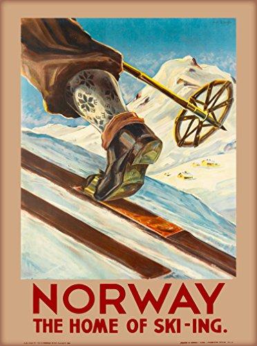 Review 1935 Norway Ski-ing Art